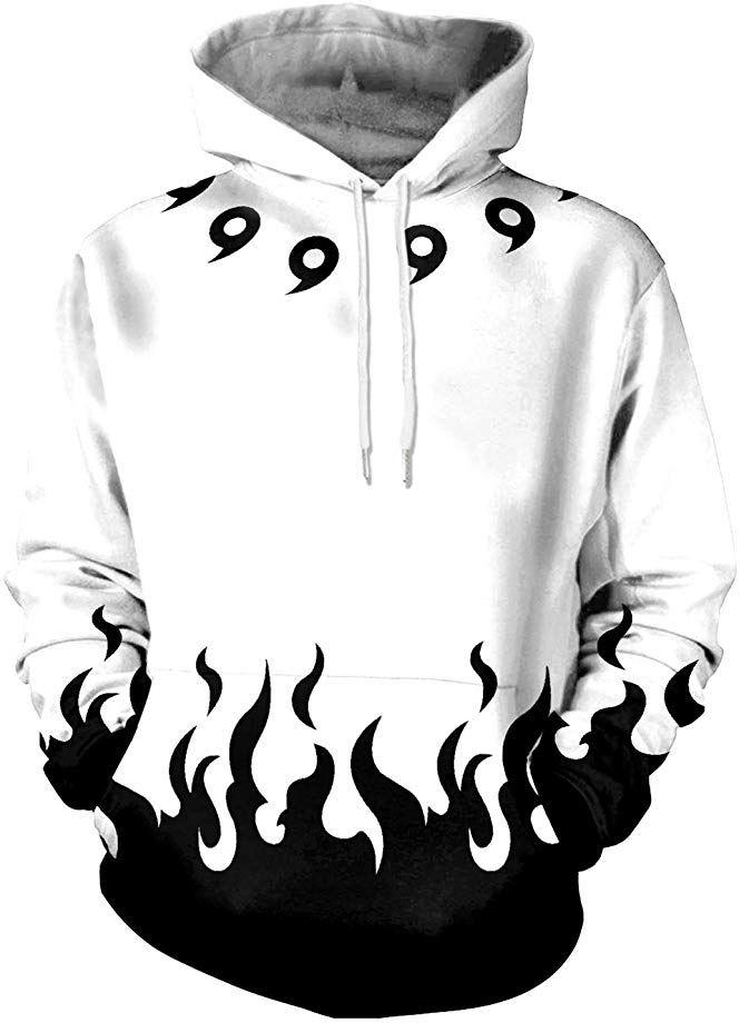 Memoryee 3d Naruto Anime Pattern Printed Pullover Hoodie