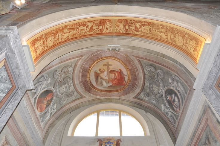 The vault of the chapel of San Francesco in San Bernardino's church (XV-XVII c.) in Saluzzo - Cuneo - Piedmont - Italy after paintings conservation (2009-2011)