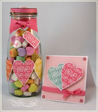 The many uses of a Starbucks Frappuccino Jar. Valentine Candy Jar