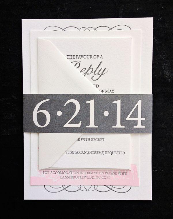Featured Wedding Invitation Design: Modern Formal Invitation Suite by 622 Press (11)