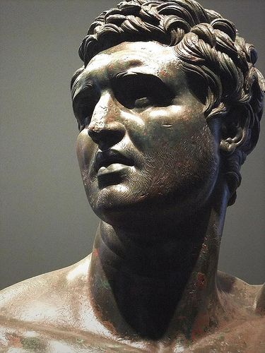 Statue of a prince or dynast without crown, traditionally thought to be a Seleucid prince, maybe Attalus II of Pergamon Bronze Greek Hellenistic era, 3rd-2nd centuries BCE,National Museum of Rome - History of Macedonia a Kingdom of Greece  #Macedonia #Greeks #Macedonian #Greece #history #Seleucid