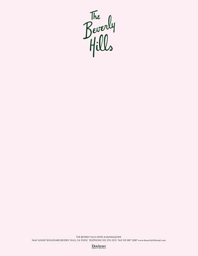 Beverly Hills Hotel, letterhead – brand redesign by http://thomasschwab.net