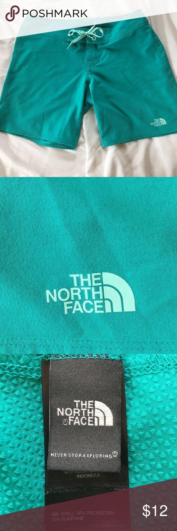 North face women's green shorts North face women's green shorts - size 4. Drawstring/Velcro close at waist near drawstring. North Face Shorts