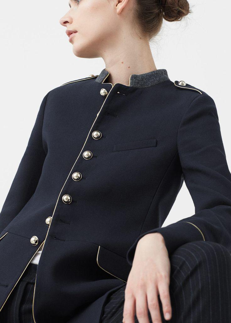 Military style coat -  Women   MANGO USA