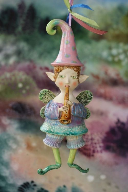 Cobweb - fairy from the Midsummer Night's Dream Ceramic illustration project by Elya Yalonetski (2015) Sculpture by Elya Yalonetski | Artfinder