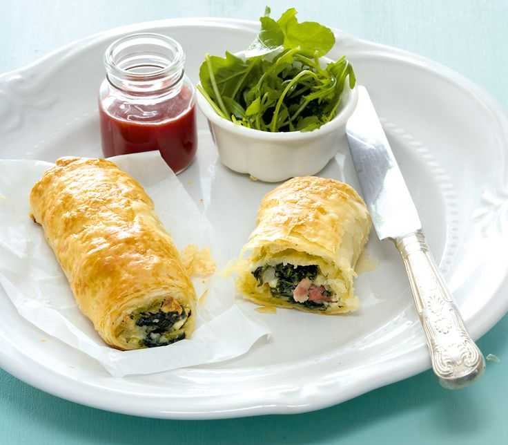 Spinach and bacon rolls