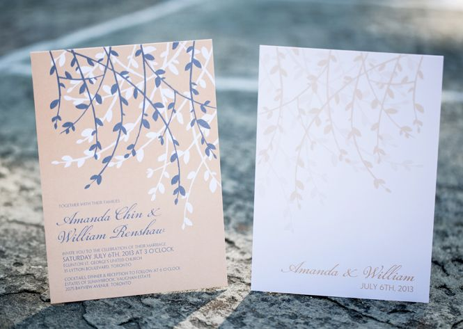 Laura K Leaves and Branches Wedding Invitation