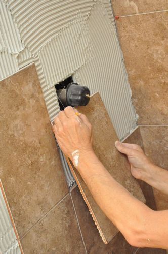 How to tile a shower.