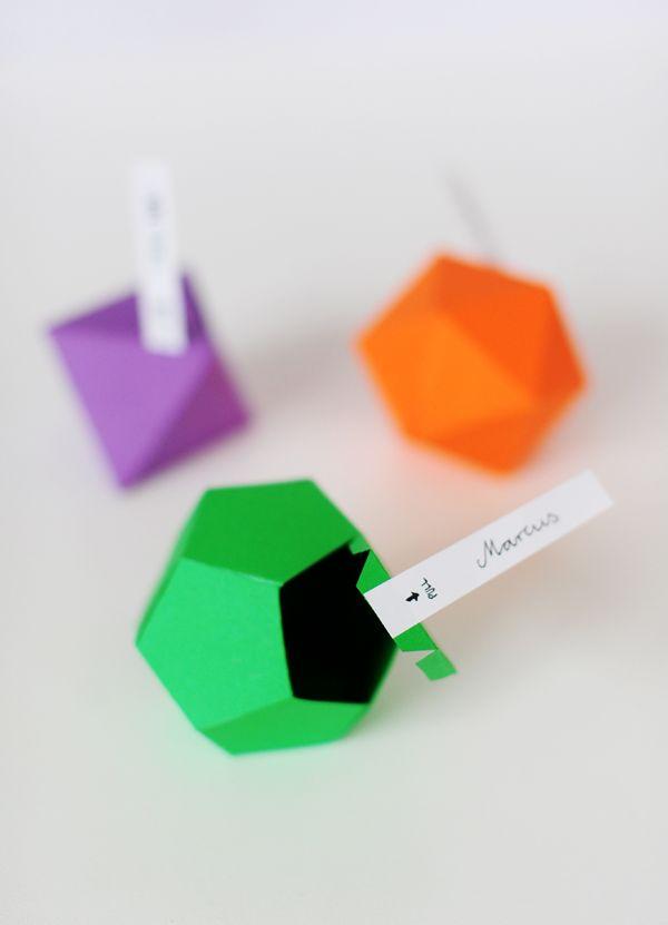Diy y plantilla gratis: Cajas-poliedros para los regalos : LaNoviaNovata.com