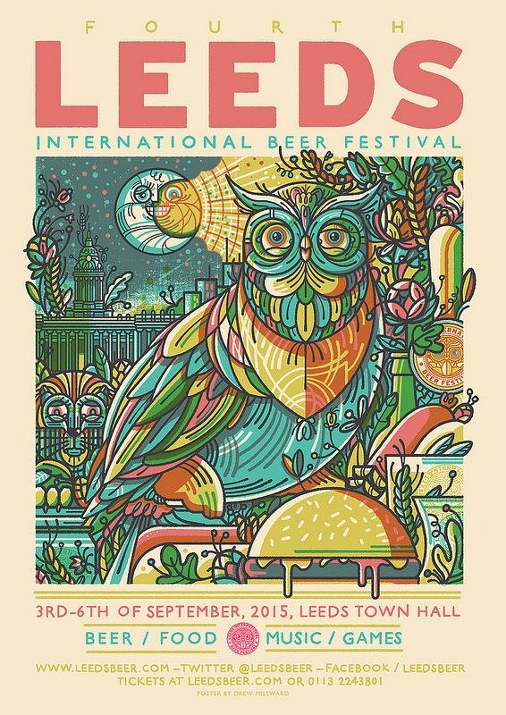 Leeds International Beer Festival 2015 - We are very fond of Owls in Leeds. This is a wise city!