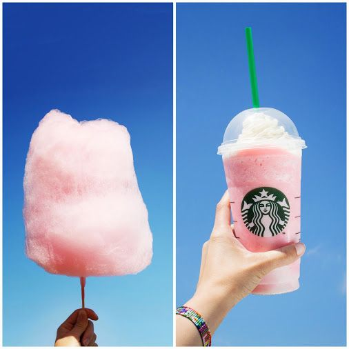 Cotton Candy ‎Frappuccino. Omg so.good! Just order a vanilla bean Frappuccino with a couple squirts of raspberry syrup. :) xx
