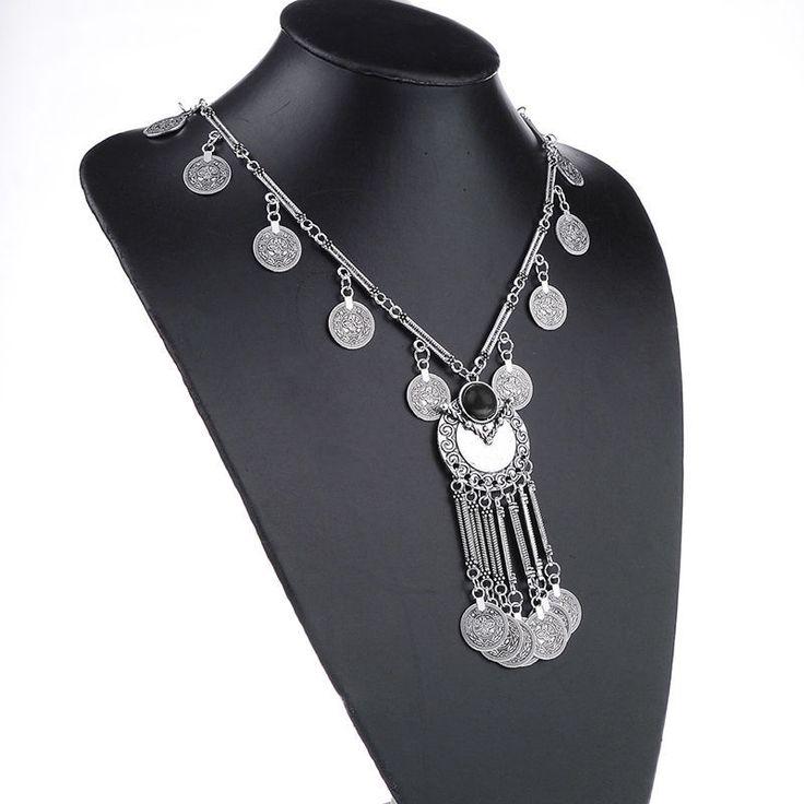 Aliexpress.com: Acheter Yantu 2015 bohème pièce millésime Long collier pendentif chaîne Gypsy Tribal ethnique bijoux en argent déclaration collares [ JN06657 / YT ] de matériel de bijoux fiable fournisseurs sur hu fei's store