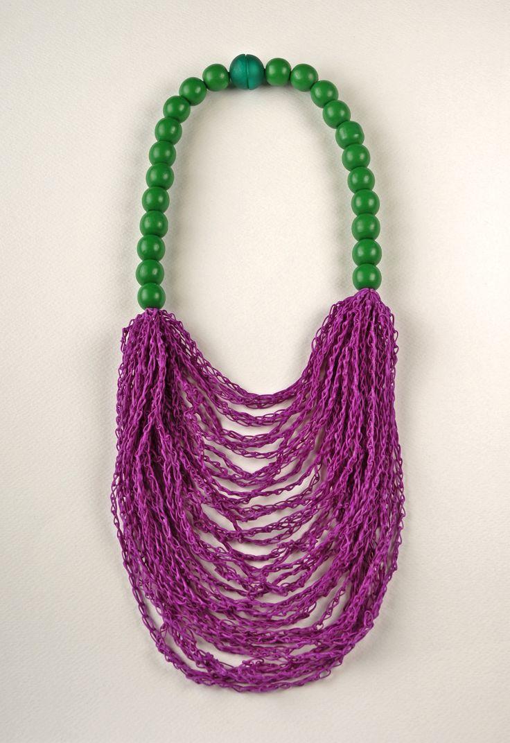 Necklace, Peppermint & Purple www.stellakyriakou.com