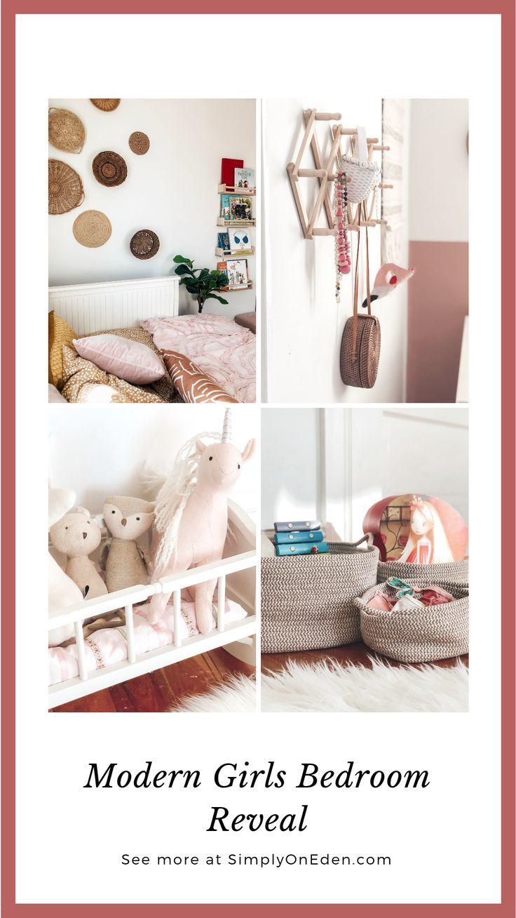 girl s modern vintage bedroom less is more home inspiration rh ar pinterest com