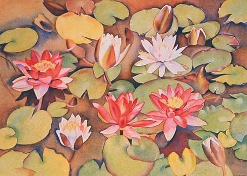 Check out Waterlillies by Rita Angus at New Zealand Fine Prints