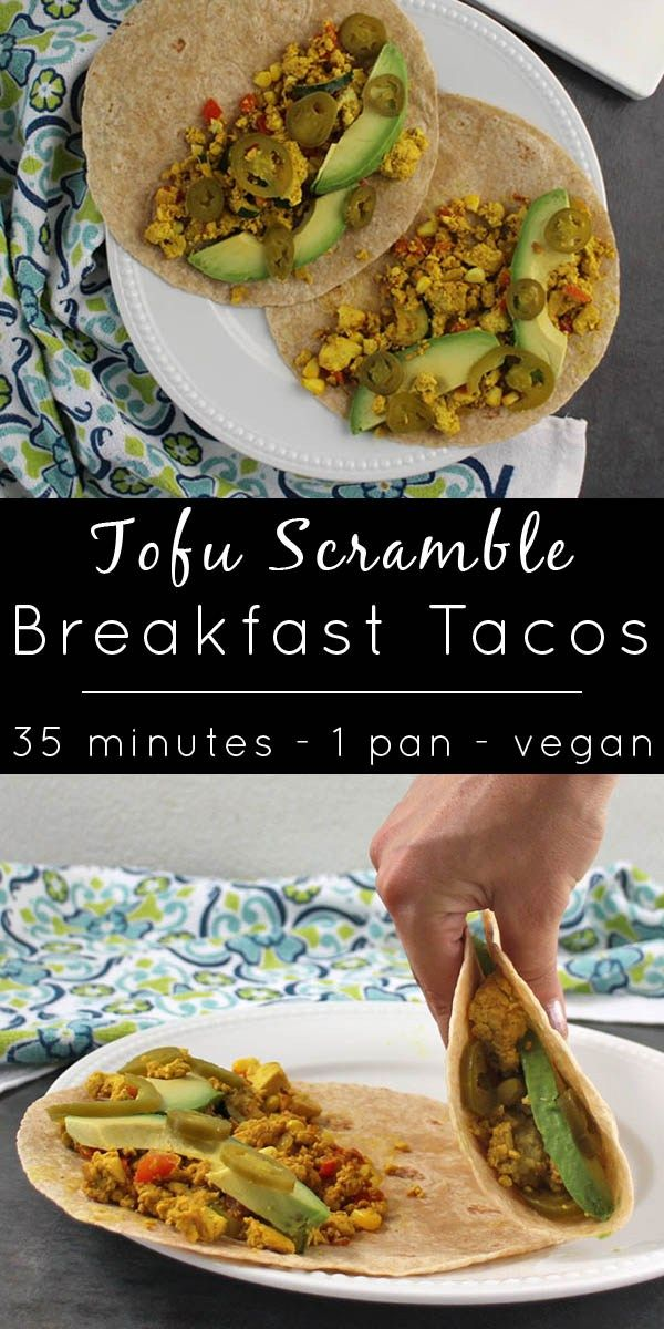 Take your next scrambie to the next level with Tofu Scramble Breakfast Tacos!  #sponsored