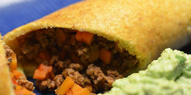 Sunde og rigtig gode pandekager med fyld af oksekød og grøntsager. Hjemmelavede og low carb, så du kan spise dem med god samvittighed - f.eks. til aftensmad eller frokost.