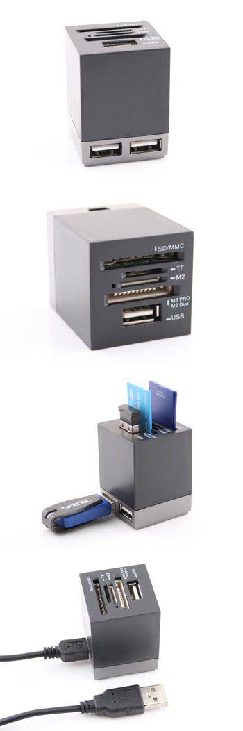 USB Mini Combo Card Reader/Hub