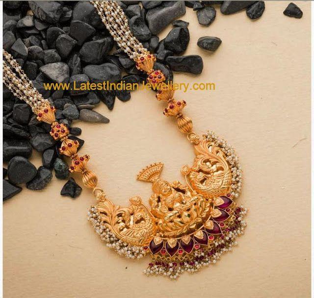Gold Balls Lakshmi Haar