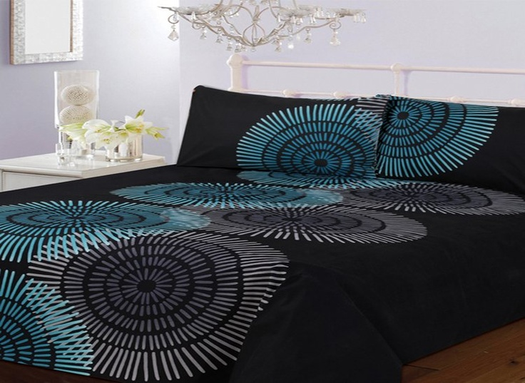 Best Comforter Sets Images On Pinterest King Comforter Sets - Black and teal comforter sets