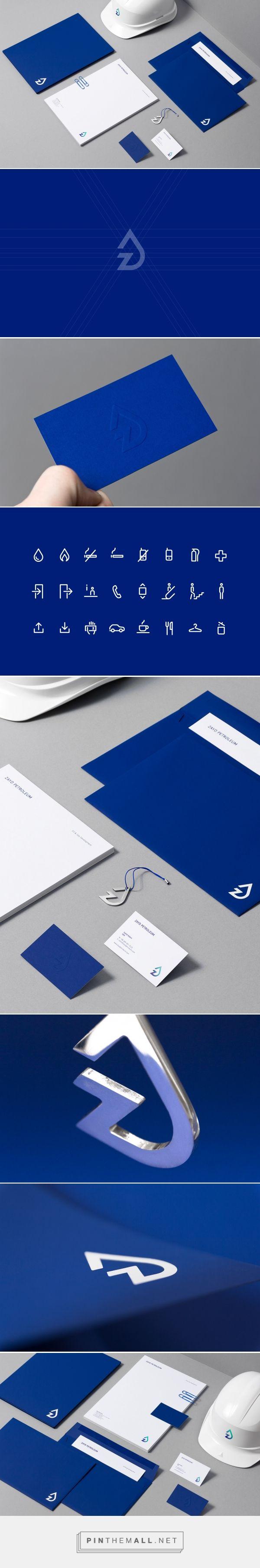 Zayd Petroleum identity designed by For brands studio.