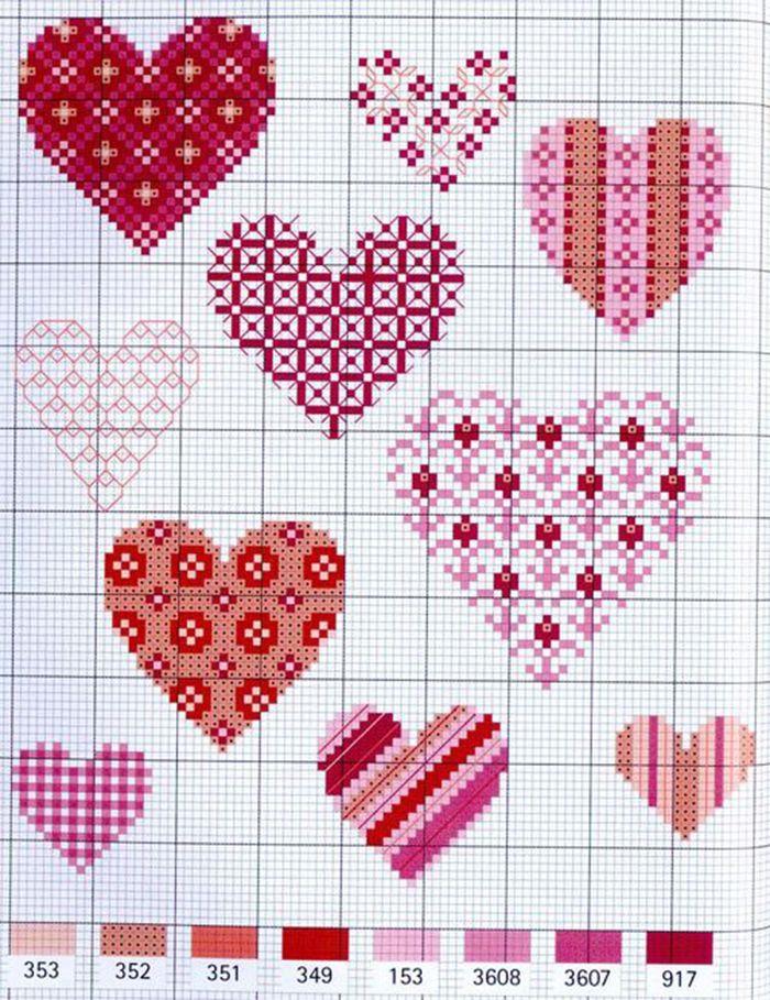 Открытки с сердечками вышивка, малышами дню