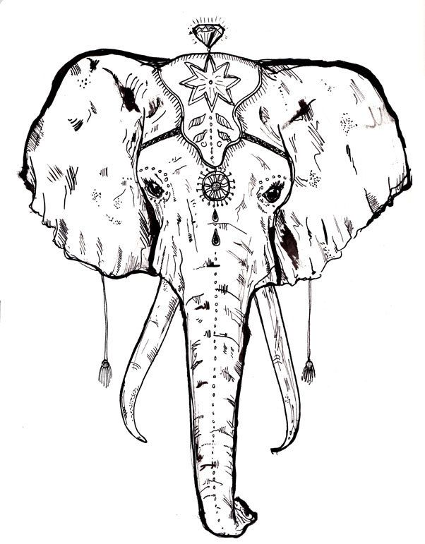 A3 Circus Elephant Screen Print ON SALE by IsobelKho on Etsy