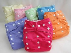 Kawaii cloth diapers. 6.99 each  Yellow, Carnation Pink, Green, Sky Blue, Orange Peel  Lavender, Raspberry