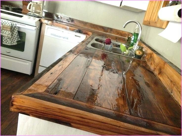 Diy Wood Countertops Wood Diy Reclaimed Wood Island Countertop