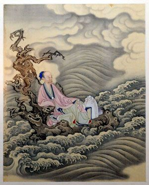 A painting of the Qing Dynasty (1644-1911) displayed during a preview of an exhibition about Emperor Yongzheng (1678-1735) of the Qing Dynasty in Taipei, southeast China's Taiwan Province.