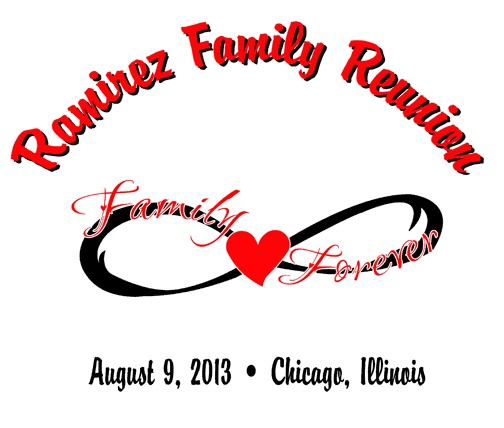 customizable infinity t shirt design from reunion king great for a family reunion