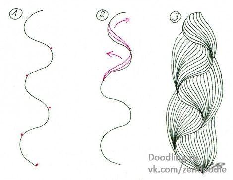 Учимся рисовать зимние узоры Зентангл и оформлять праздничные открытки - ZenArt, Zentangle, Doodling — уникальные направления в современном искусстве