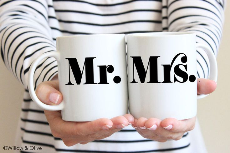 Mr and Mrs Mugs Set of 2 Couple Mugs Mr and Mrs Gift Mugs Wedding Mugs Engagement Gift Wedding Gift for Couples Anniversary Gift Mugs W0009 by WillowAndOlive on Etsy