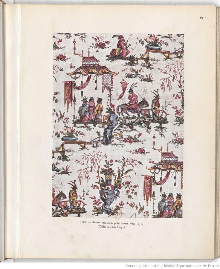 Histoire de la manufacture de Jouy et de la toile imprimée en France. PLANCHES / Henri Clouzot | 1928