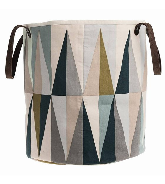 Ferm Living Laundry basket Spear 2 sizes multicolour organic cotton - Wonen met LEF!