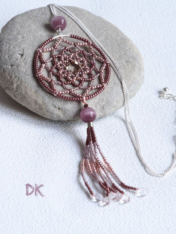 collier argent collier attrape-rêve argent 925 par DKreationKitti