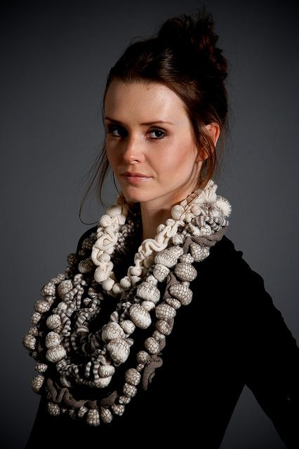 sally chown knit necklace
