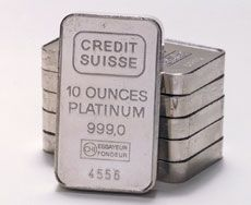 Platinum Bullion. Worth much more than American $ dollars... :/