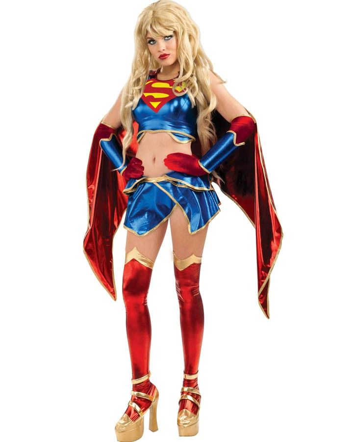 Anime Supergirl Womens Costume Perfect for a Superhero party