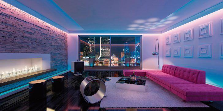 hidden led lighting living room