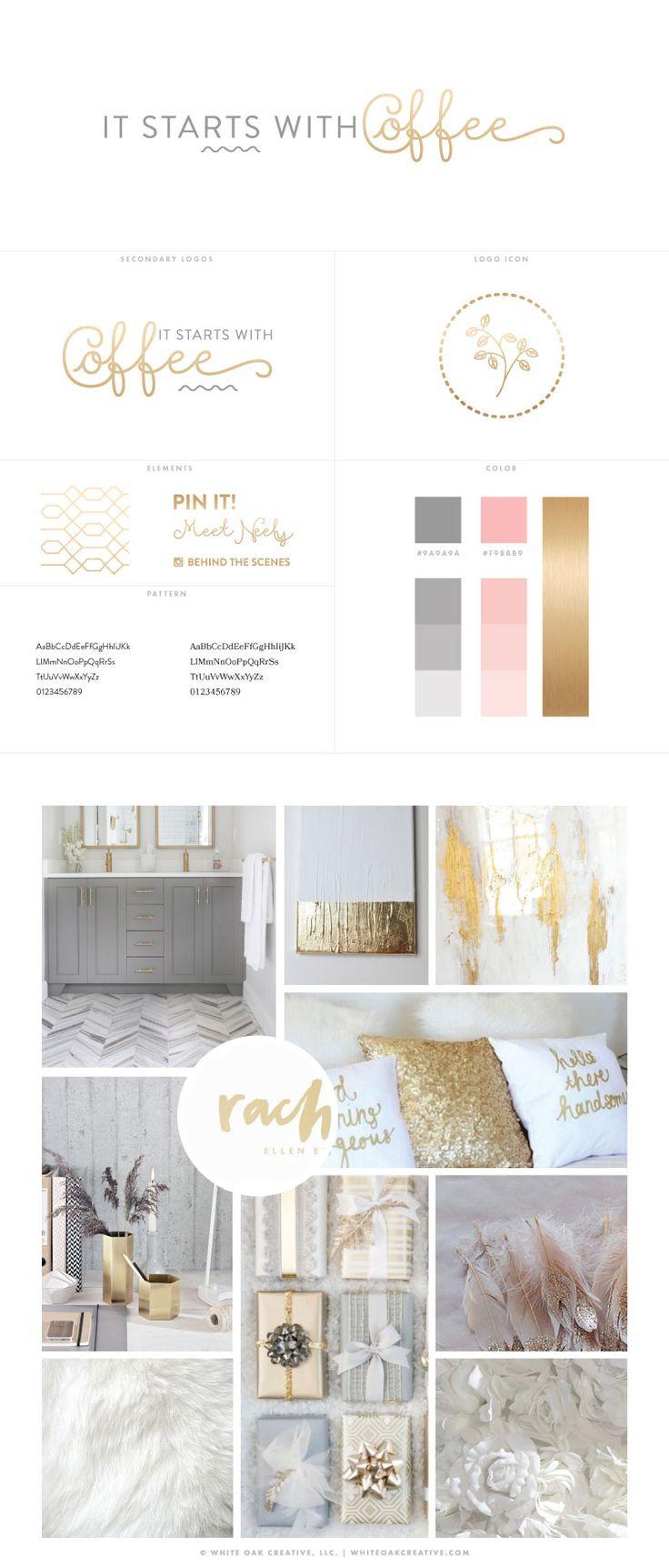 It Starts With Coffee Blog Redesign By White Oak Creative, Blog Design, Branding, Graphic Design, WordPress Design, Feminine Blog Design