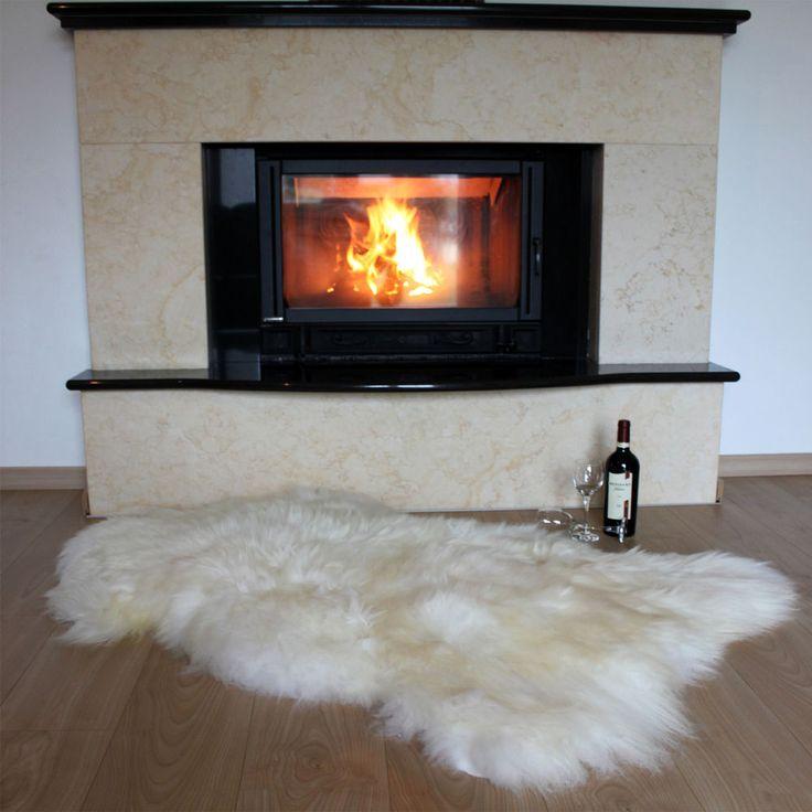 details zu ko schaffell lamm fell creme wei 105x70. Black Bedroom Furniture Sets. Home Design Ideas