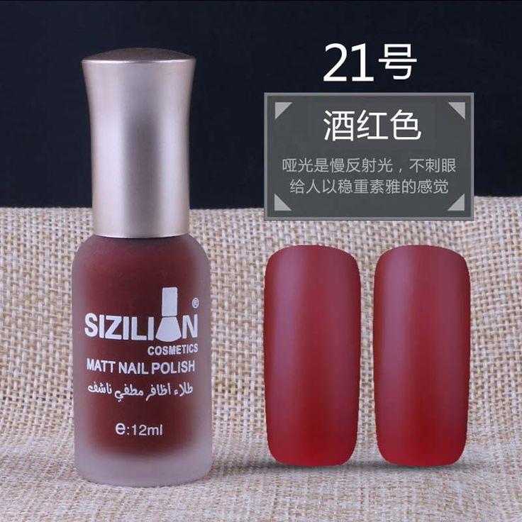 New 12ml Matte Dull Nail Polish Fast Dry Long lasting Nail Art Varnish Lacquer Matte. Click visit to buy #Nail #Polish #NailPolish
