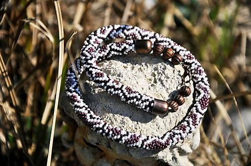 Cukorpalantak / Hadia koža - háčkovaný náhrdelník