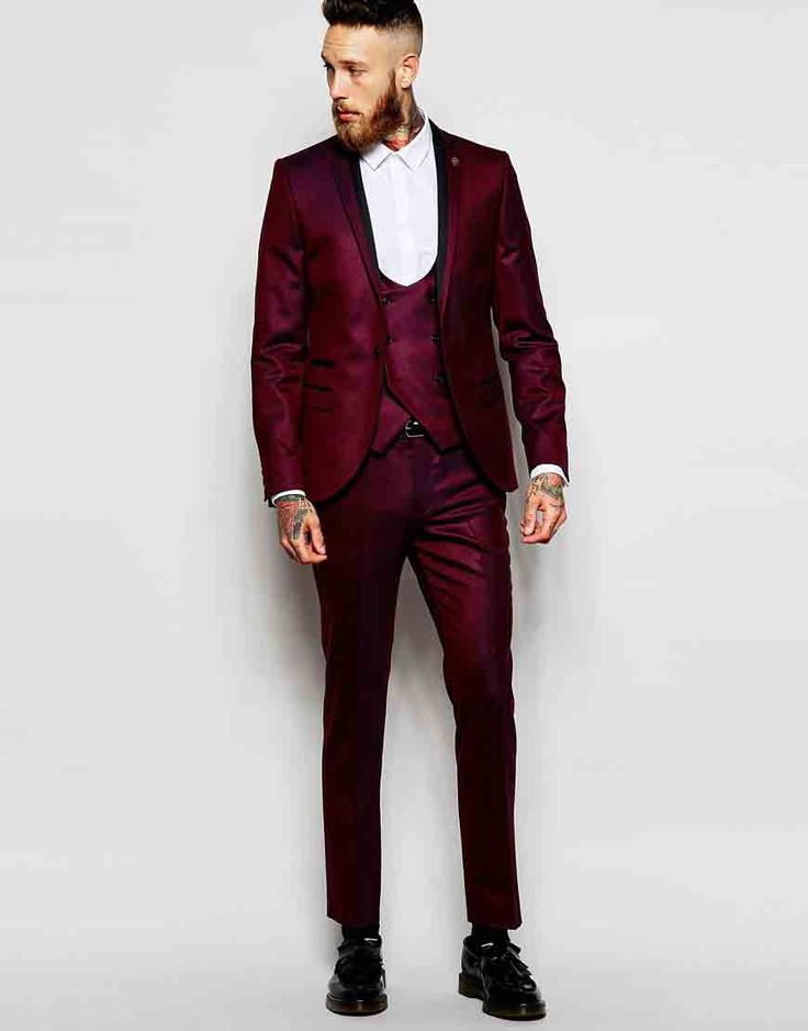 Image 1 ofNoose & Monkey Tuxedo Suit With Stretch in Skinny Fit