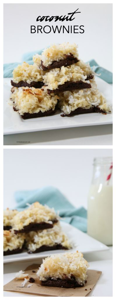 Dessert Recipes| Coconut Brownies| If you love Coconut as much as I do…you have to make these Coconut Brownies! They are so good!
