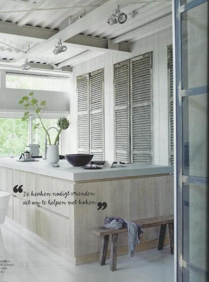 Prachtige keuken: stoer en brocante. Door selfa