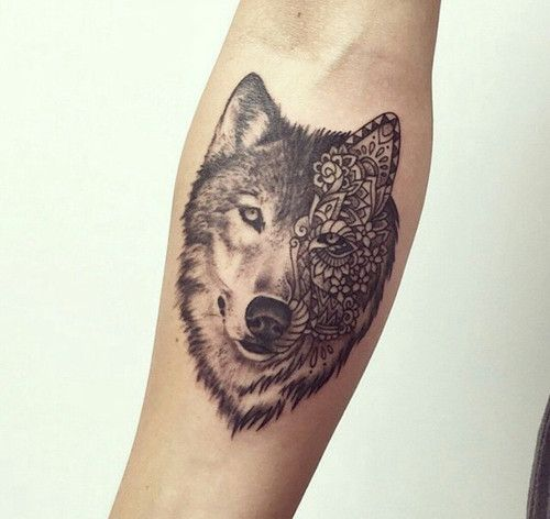 Populaire 81 best Tatouage loup images on Pinterest | Tatoo, Tatoos and Tatting DR06
