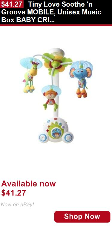Crib Toys: Tiny Love Soothe N Groove Mobile, Unisex Music Box Baby Crib Toy, Blue BUY IT NOW ONLY: $41.27