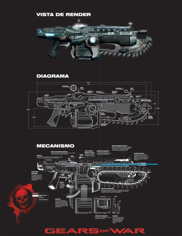 """Gears of War, infographic by Arturo """"Black """" Fonseca"""